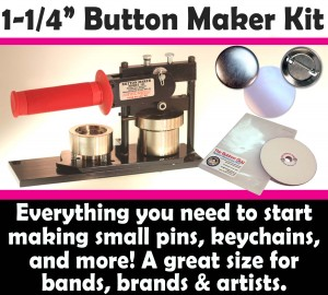 "1-1/4"" Button Maker Kit, button machine"