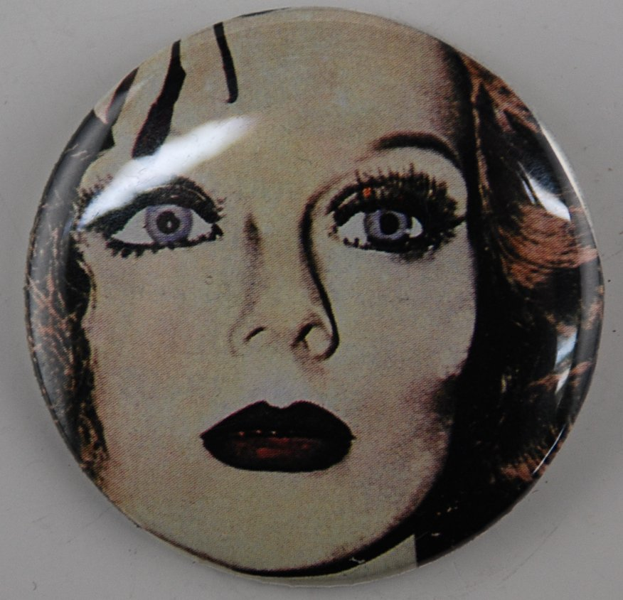 face button, pin-back button