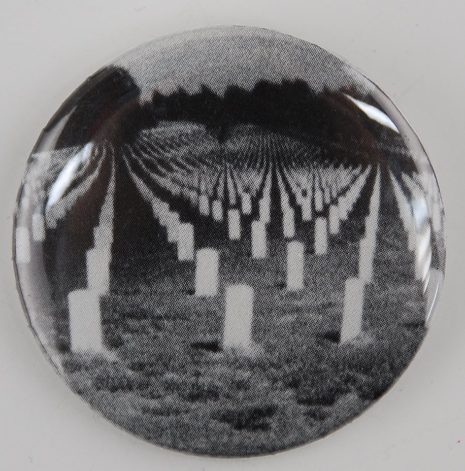 graveyard button, goth button, photo button, pin-back button