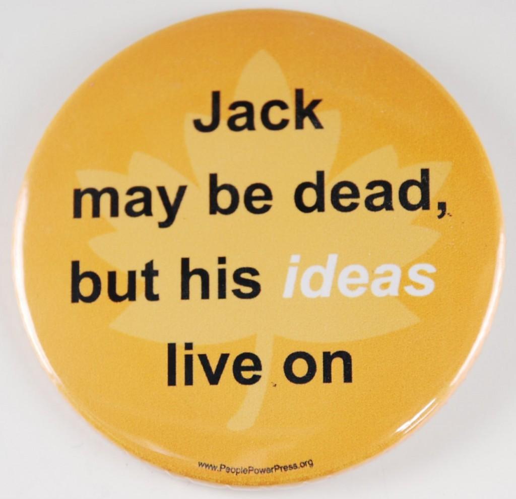 Jack Layton pin
