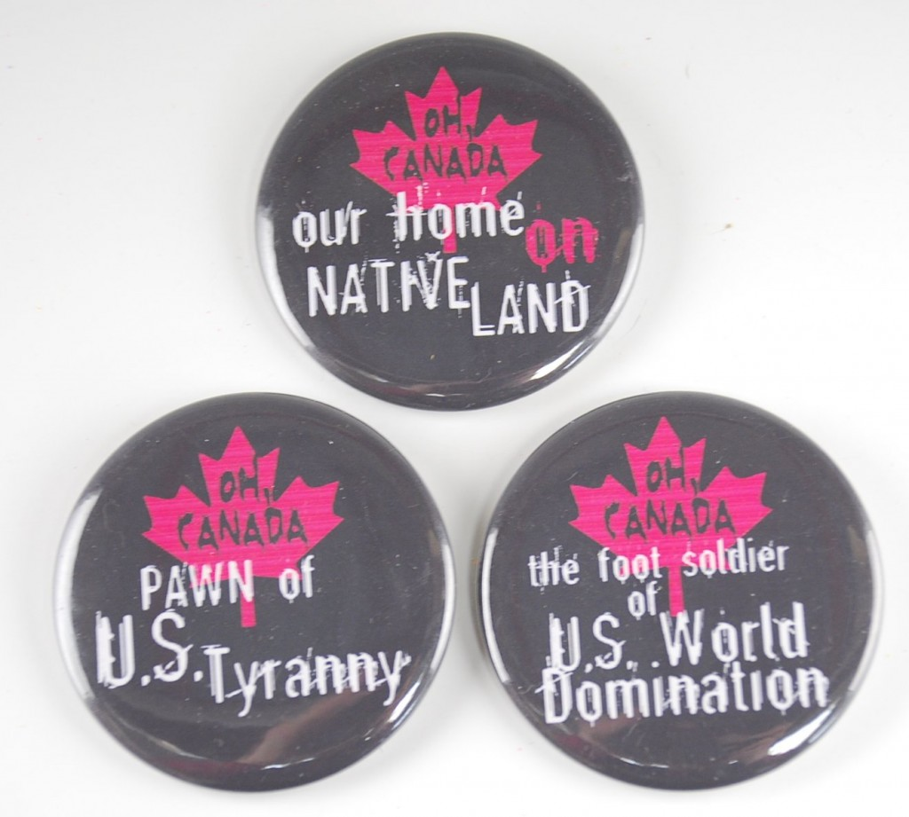 Canadian pins, Political pins