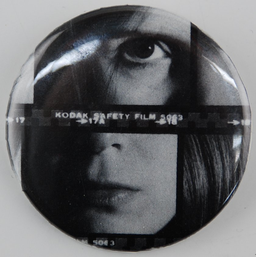 photo button, face button, pin-back button