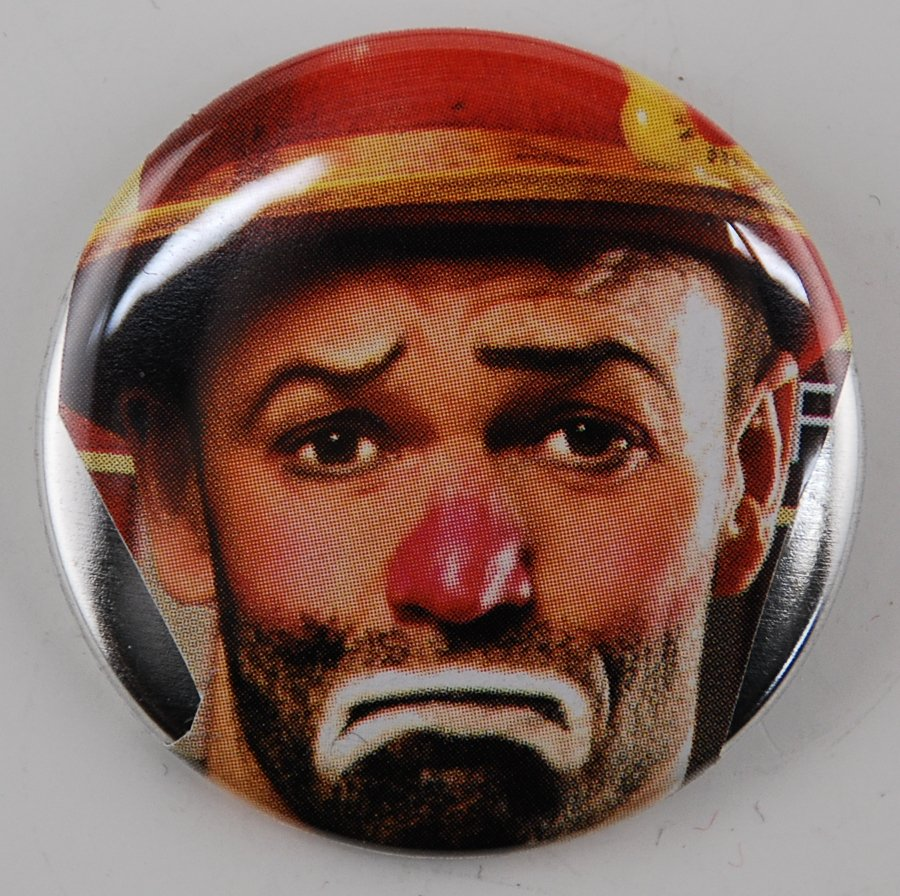 clown button, photo button