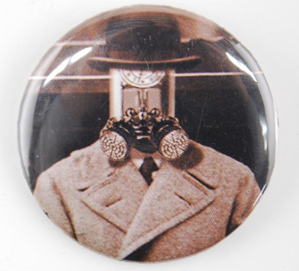steampunk pin-back button, steampunk pinback button