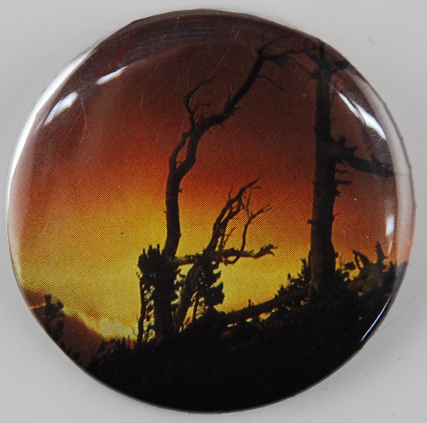 sunset button, tree button, pin-back button, spooky button