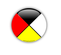 Aboriginal Buttons, First Nations Buttons, Native Buttons, medicine wheel