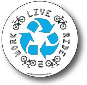 bike button, environmental button