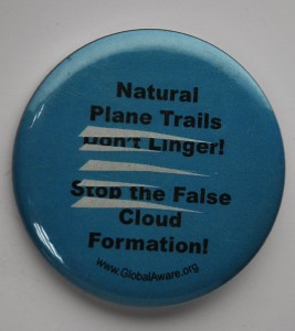 chemtrail button, environmental button