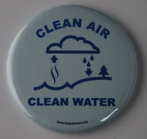 clean air, clean water, environmental button