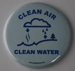 clean air, clean water, environmental button