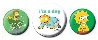 Simpsons buttons, Television buttons