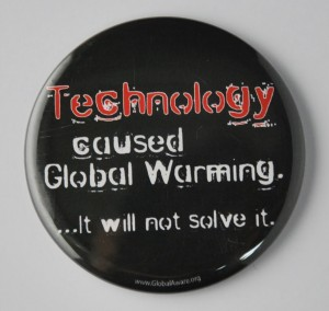 environmental button, global warming button
