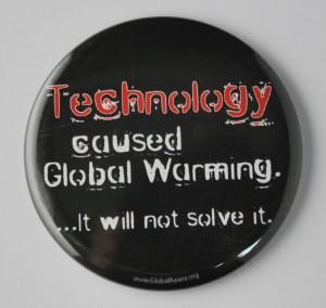 environmental button, global warming button
