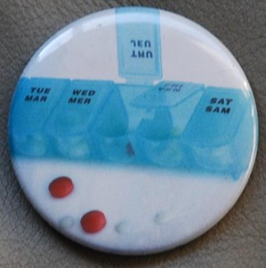 pills button, drug button, advertisement button, medicine button, custom button