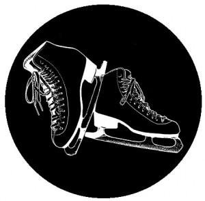 skating button, skating pin-back button