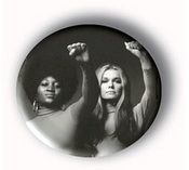 Dorothy Pitman, Gloria Steinem button, political pin-back button, political buttons, Black History Month pin-back button, Black History Month button